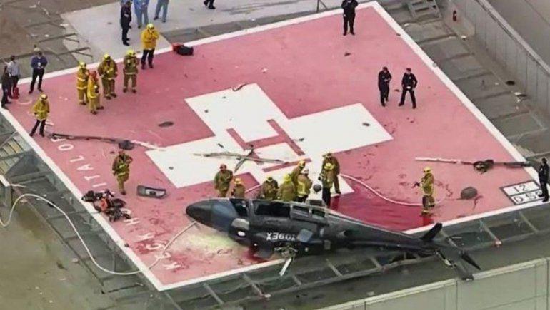 Un helicóptero que llevaba un corazón se estrelló en el hospital