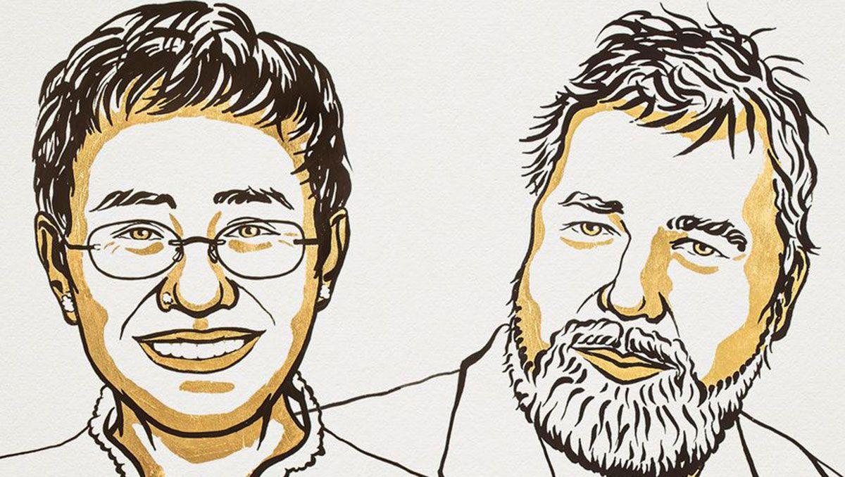 entregaron el nobel de la paz a dos periodistas por su lucha por la libertad de expresion